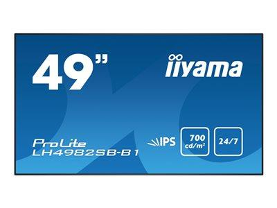 "iiyama ProLite LH4982SB-B1 49"" 1920x1080 8ms VGA DVI HDMI DisplayPort LED Large Format Display"