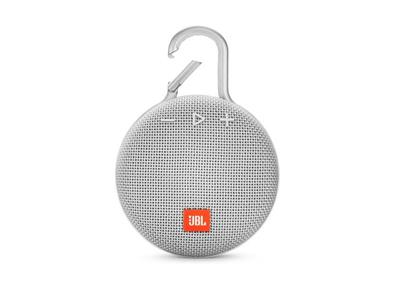 JBL Clip 3 Carabiner Bluetooth Speaker - White