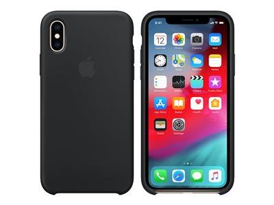 Apple iPhone XS Silicone Case – Black