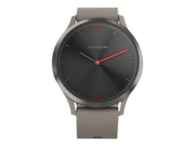 Garmin Vivomove HR Hybrid Sport Smartwatch Black with Sandstone