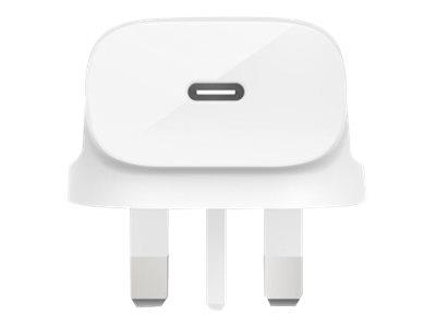 Belkin 18W USB-C Home Charger (UK Plug) - White