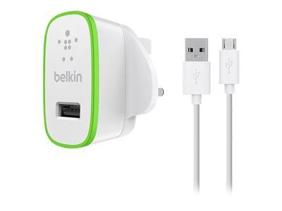 Belkin 2.4 Amp Charger with 1.2m Micro USB Cable - White