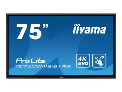 "iiyama ProLite TE7503MIS-B1AG 75"" 3840x2160 6ms VGA HDMI DisplayPort IPS LED Large Format Display"