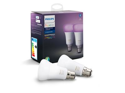 Philips Hue White and Colour Ambiance B22 Twin Pack