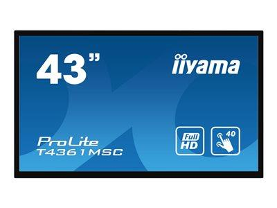 "iiyama T4361MSC-B1 43"" 1920z1080 8ms VGA DVI HDMI DisplayPort Touch LED Large Format Display"