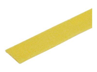 StarTech.com 50ft. Hook and Loop Roll - Yellow - Reusable