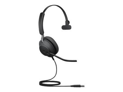 Jabra Evolve2 40 USB-A UC Stereo Headset - Black