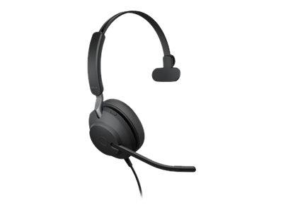Jabra Evolve2 40 USB-C UC Mono Headset - Black