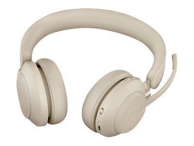 Jabra Evolve2 65 USB-A UC Stereo Headset with Desk Stand - Beige