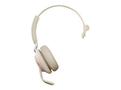 Jabra Evolve2 65 USB-A UC Mono Headset with Desk Stand - Beige