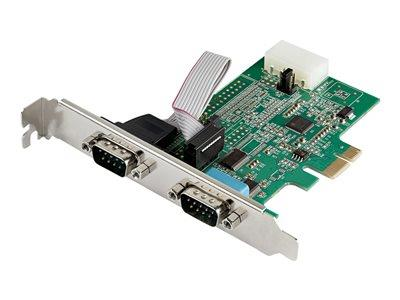 StarTech.com 2 Port PCI Express RS232 Serial Adapter Card