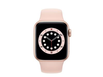 Apple Watch Series 6 GPS + Cellular, 40mm Gold Aluminium Case with Pink Sand Sport Band - Regular