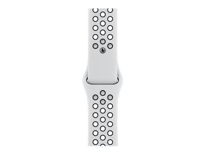 Apple Watch Nike SE GPS + Cellular, 44mm Silver Aluminium Case Pure Platinum/Black Nike Sport Band