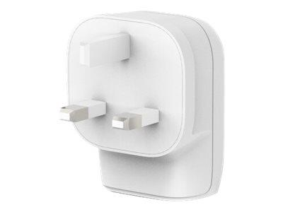 Belkin 32W - 20W USB-C + 12W USB-A Dual Port Wall Charger - White