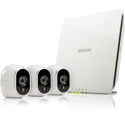 Image of NETGEAR Arlo Smart Home 3 HD Security Camera Kit - Wireless CCTV, Indoor / Outdoor with Night Vision