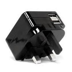 Veho VAA-009-UK Foldable Dual USB 5V 2.1 UK Plug