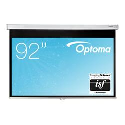 Optoma DS9092PWC 169 Pull Down Projector Screen 92 Inch