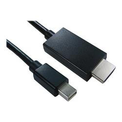 Cables Direct 1m Mini DisplayPort to HDMI MM Cable Black  BQ 160