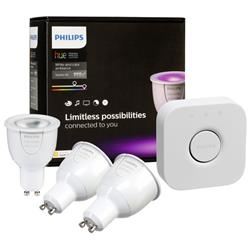 Philips Hue White and Colour Ambiance Starter Kit UK/EU (GU10) - V2
