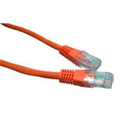 Cables Direct Orange 2m Network 5E 26AWG Moulded Boot