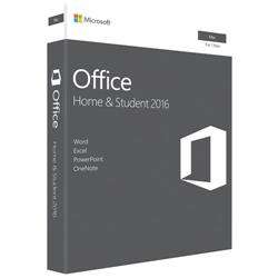 Microsoft Office Home and Student 2016 for Mac  Medialess (One Time Purchase)