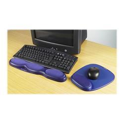 Kensington Memory Gel Keyboard Wrist Rest  Blue