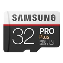 Samsung 32GB PRO Plus Class 10 UHSI microSDHC card with SD adapter