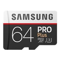 Samsung 64GB PRO Plus Class 10 UHSI microSDXC card with SD adapter