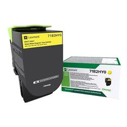 Lexmark Cs/X417 Yellow High Yield Return Program Toner Cartridge 3.5K