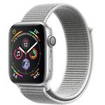 Apple Watch Series 4 GPS + Cellular, 40mm Silver Aluminium Case with Seashell Sport Loop