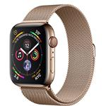 Apple Watch Series 4 GPS + Cellular, 44mm Gold Stainless Steel Case with Gold Milanese Loop